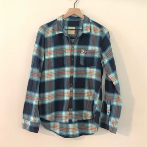 Hollister Flannel Button Down Shirt - Size Large